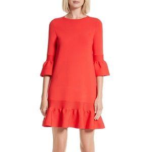 Ted Baker Tynia Ruffle Peplum Shift Dress